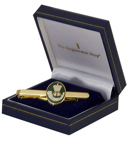 The Rifles Gilt Enamel Tie Clip - regimentalshop.com
