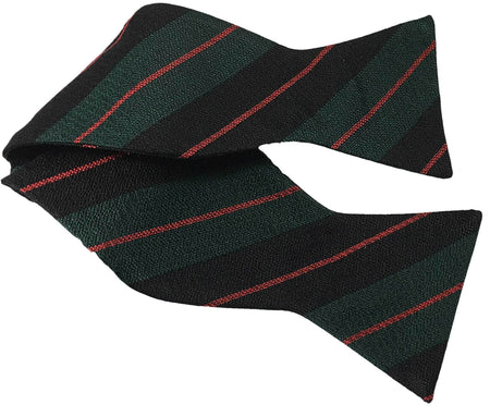 Royal Gurkha Rifles Silk Non Crease Self Tie Bow Tie - regimentalshop.com