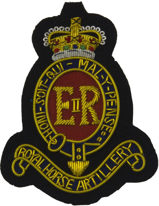 Royal Horse Artillery Blazer Badge (Gold) - regimentalshop.com