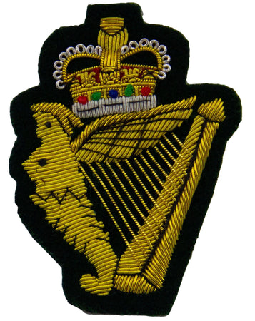 Royal Irish Regiment (Queen's Crown) Blazer Badge - regimentalshop.com