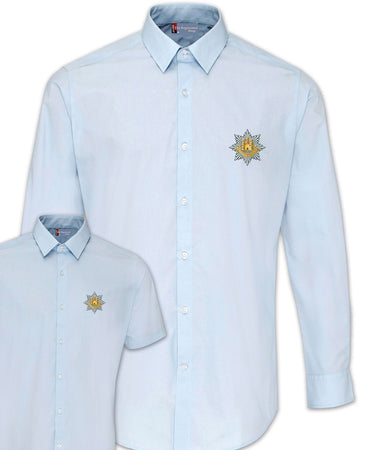 Royal Anglian Regimental Poplin Shirt - Short or Long Sleeves - regimentalshop.com