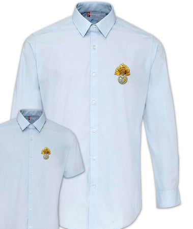 Royal Regiment of Fusiliers Regimental Poplin Shirt - Short or Long Sleeves - regimentalshop.com