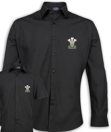 Royal Welsh Regimental Poplin Shirt - Short or Long Sleeves