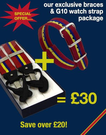 Sandhurst Braces & Watch Strap Special Offer