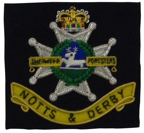Sherwood Foresters Blazer Badge - regimentalshop.com