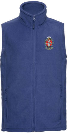 Princess of Wales's Royal Regiment Premium Outdoor Sleeveless Regimental Fleece (Gilet) - regimentalshop.com