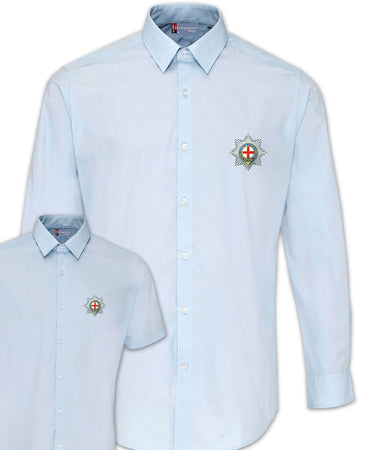 Coldstream Guards Regimental Poplin Shirt - Short or Long Sleeves