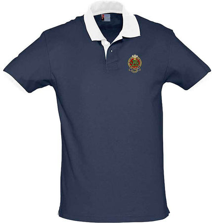 Queen's Regiment Two-Tone Polo Shirt - regimentalshop.com