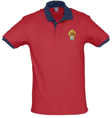 Royal Regiment of Fusiliers Two-Tone Polo Shirt - regimentalshop.com
