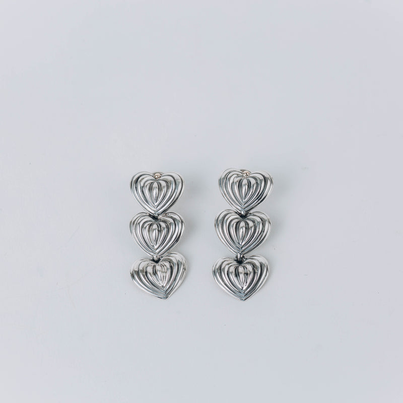 Pre-Owned Lagos Caviar Triple-Fluted Hearth Drop Earrings