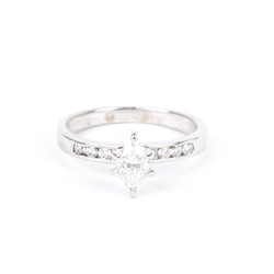 Pre-Owned Marquise Diamond Engagement Ring