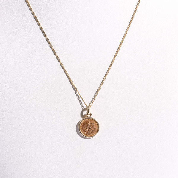 Pre-Owned 2-Peso Mexican Gold Coin Pendant