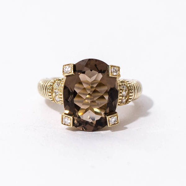 Pre-Owned Judith Ripka Smoky Quartz Ring