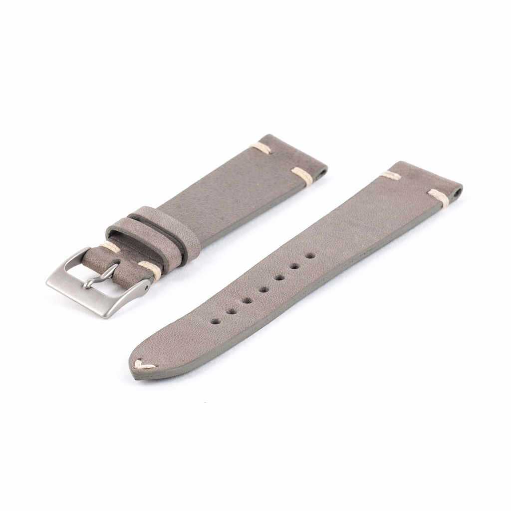 Gray Leather Watch Strap
