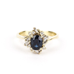 Pre-Owned Sapphire and Diamond Ring