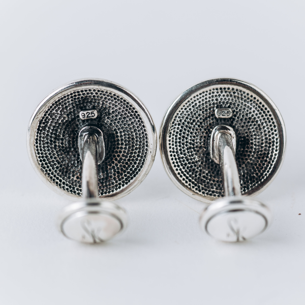 Pre-Owned Scott Kay Black Onyx Cuff Links
