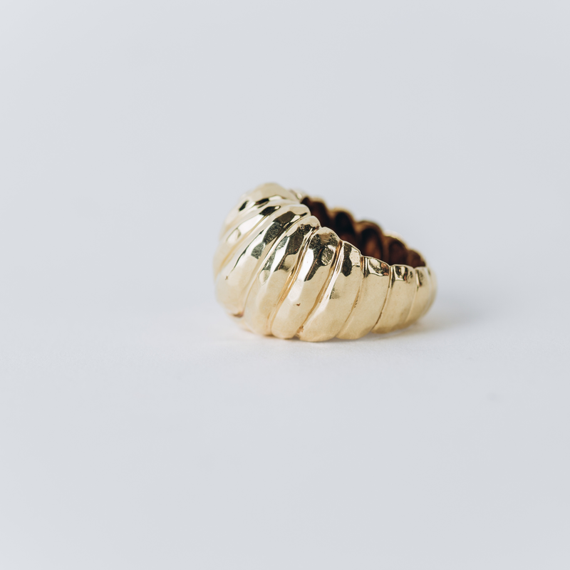 Pre-Owned Henry Dunay Hammered Ring