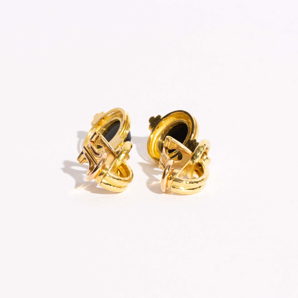 Pre-Owned Elizabeth Locke Cheerio Swinging Topknot Earrings