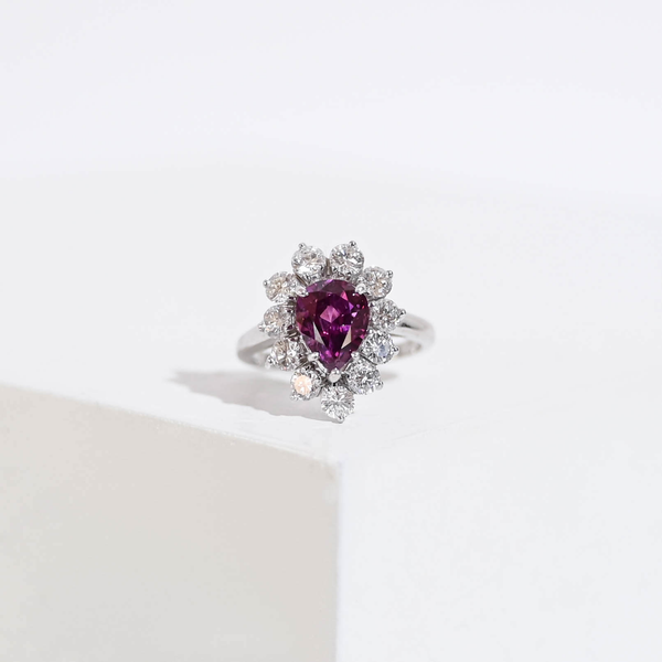 Pre-Owned Red Sapphire and Diamond Ring