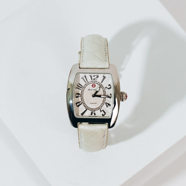 Pre-owned Michele Urban Mini Diamond Watch