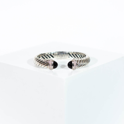 Pre-owned David Yurman black onyx cuff