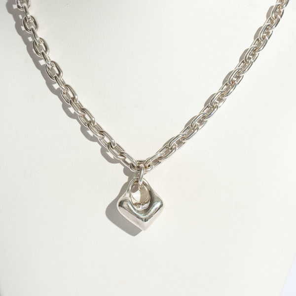 Pre-Owned Robert Lee Morris Puff Heart Necklace