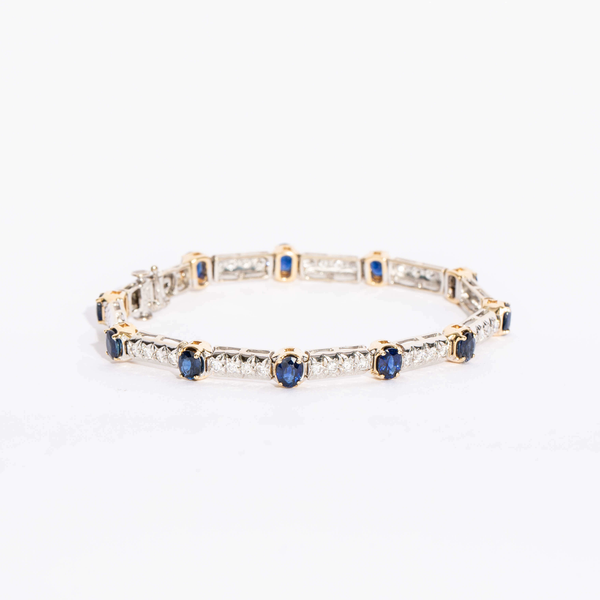 Pre-Owned Sapphire and Diamond Bracelet