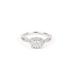 Pre-Owned Diamond Halo Engagement Ring