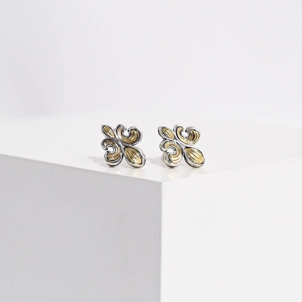Pre-Owned Lagos Fleur De Lis Earrings
