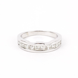 Pre-Owned Channel Set Diamond Wedding Band