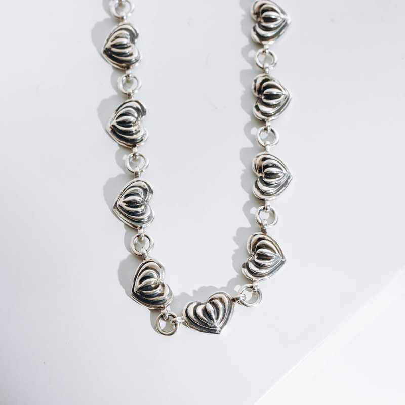 Pre-owned Lagos Caviar Heart Necklace