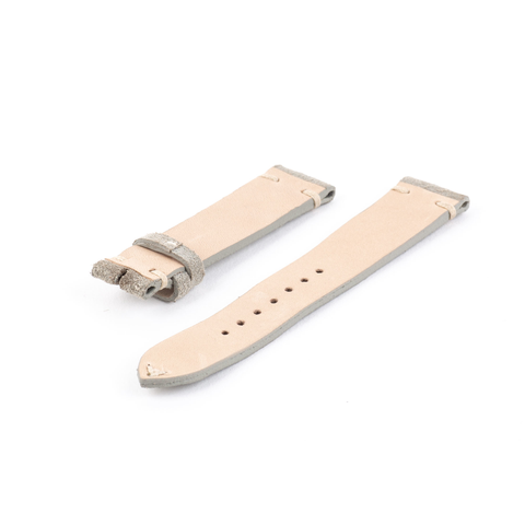 Light Gray Suede Watch Strap