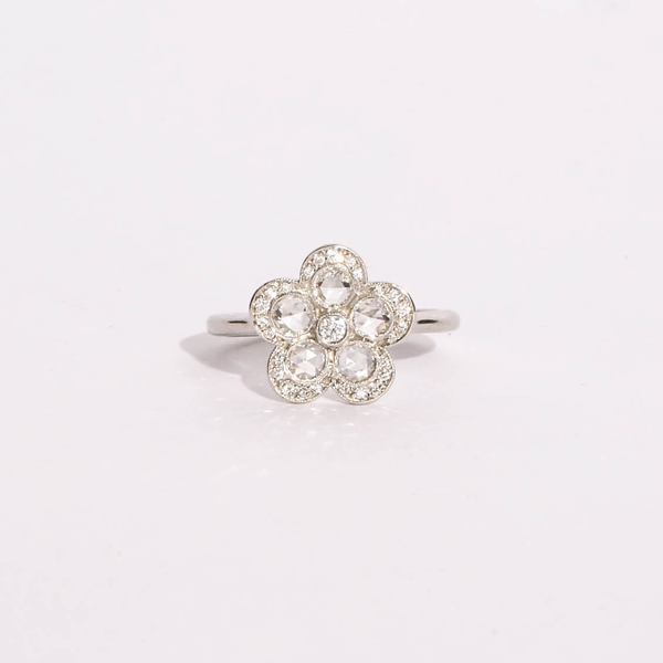 Pre-Owned Tiffany & Co. Diamond Flower Ring