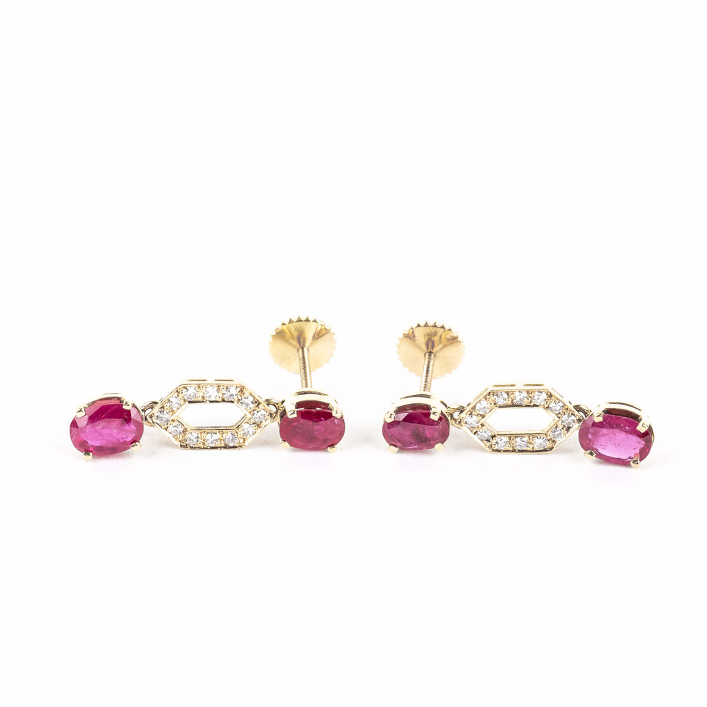 Pre-Owned Ruby and Diamond Earrings