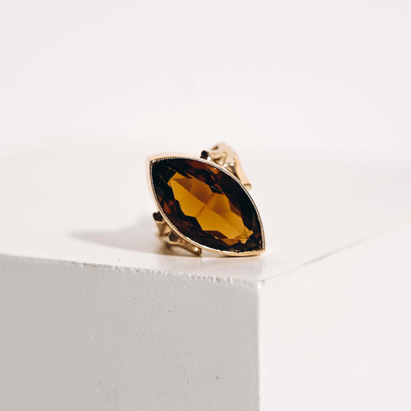 Pre-Owned Marquise Glass Ring