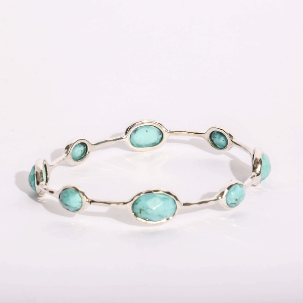 Pre-Owned Ippolita Turquoise Rock Candy Bangle