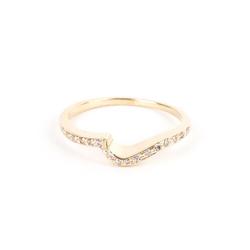 Pre-Owned Curved Diamond Wedding Band