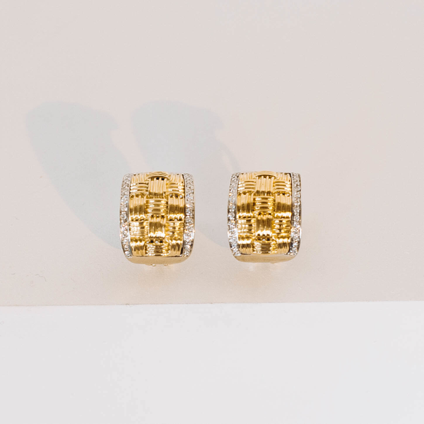 Pre-Owned Roberto Coin Diamond Appassionata Earrings