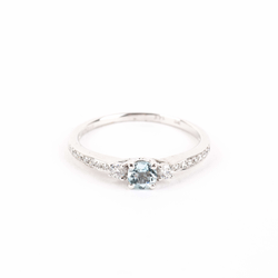 Pre-Owned Aquamarine and Diamond Ring