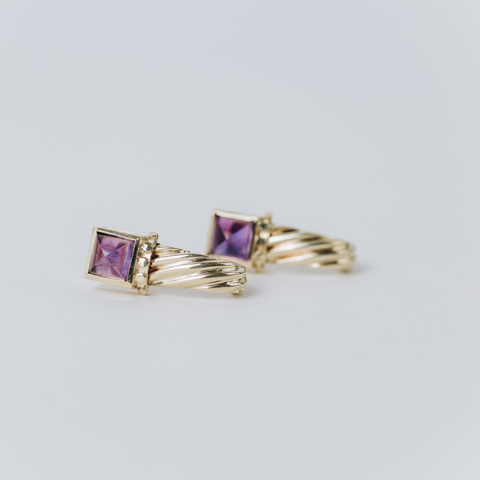 Pre-owned amethyst Earrings