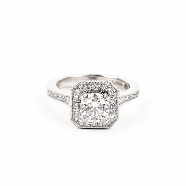 Pre-Owned Forevermark Diamond Halo Engagement Ring