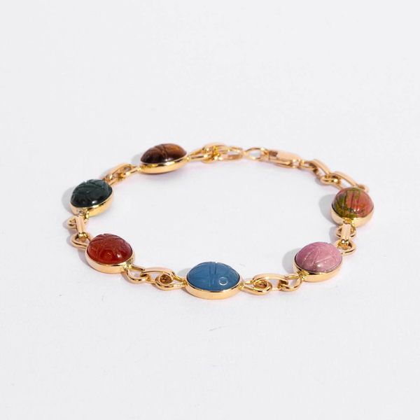 Pre-Owned Mix Gem Scarab Bracelet
