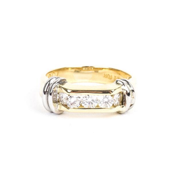 Pre-owned Two Tone Diamond Band
