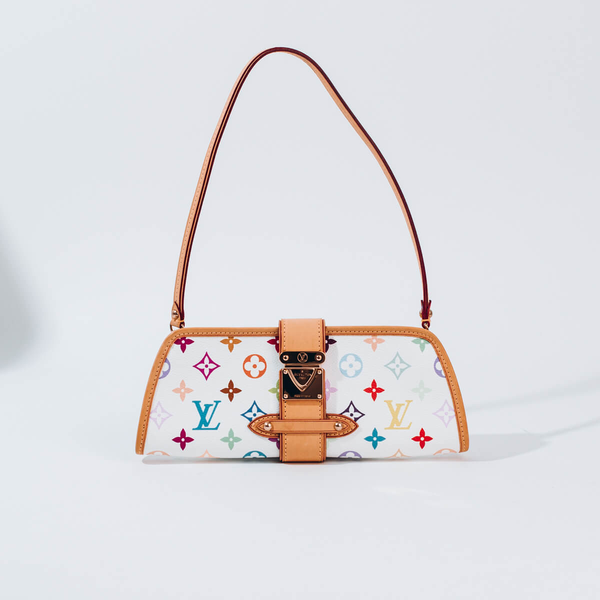 PRE-OWNED LOUIS VUITTON SHIRLEY MULTI BLANC CLUTCH