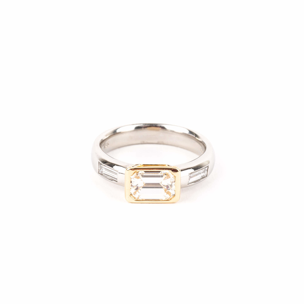 Pre-Owned Emerald Cut Diamond Engagement Ring