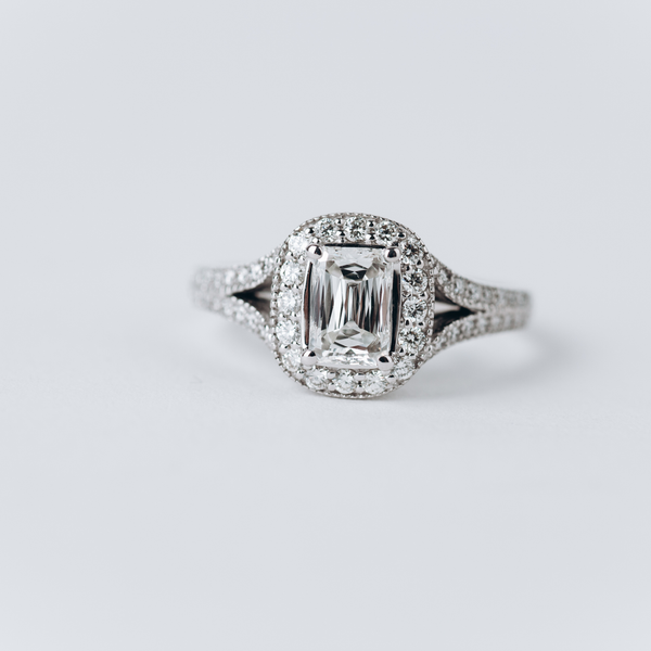 Pre-Owned Criss Cut Halo Engagement Ring