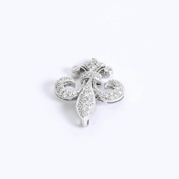 Pre-Owned Diamond Fleur De Lis Enhancer