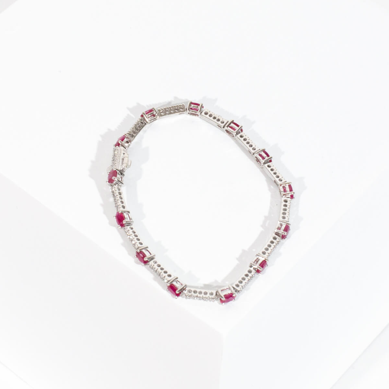 Pre-owned Ruby and Diamond Bracelet