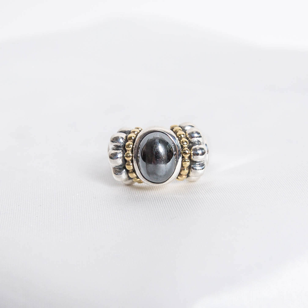 Pre-Owned Lagos Hematite Caviar Ring