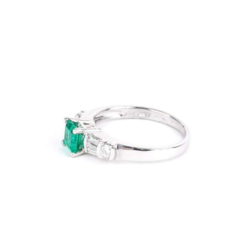 Pre-Owned Emerald and Diamond Ring